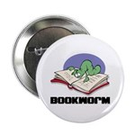Bookworm Book Lovers Button