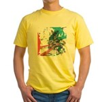 Crazy by Voln Yellow T-Shirt