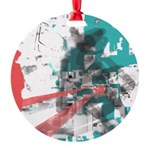 Crazy by Voln Round Ornament