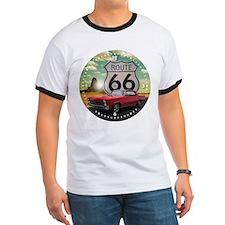 1965 Pontiac GTO - Route 66 - Clock Design T-Shirt