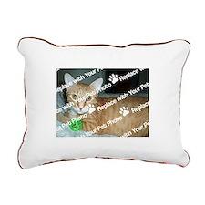 CUSTOM Your Pet Photo Rectangular Canvas Pillow
