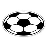 Soccer Ball Oval Decal