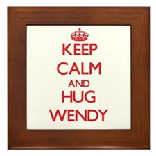 Keep Calm and Hug Wendy Framed Tile