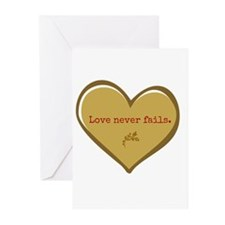 Love never fails Greeting Cards