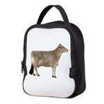 Brown Swiss Dairy Cow Neoprene Lunch Bag