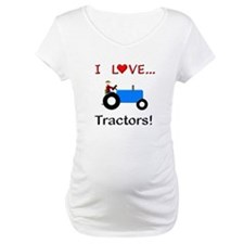 I Love Blue Tractors Shirt