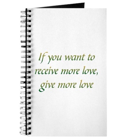 Give More Love Journal