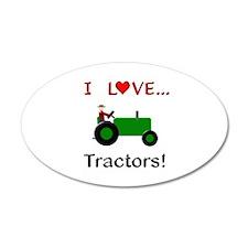 I Love Green Tractors Wall Decal