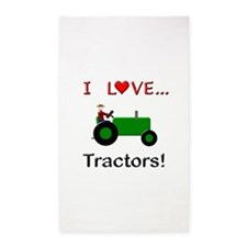 I Love Green Tractors 3'x5' Area Rug