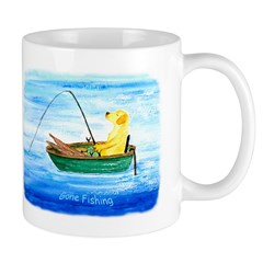 Labrador Fishing Dog Mug