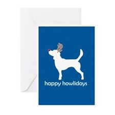 "Beagle ""Happy Howlidays"" Greeting Cards (Package o"