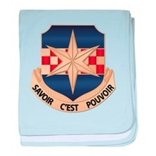 313th US Army Security Agency Bn baby blanket