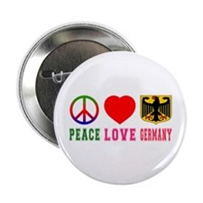 """Peace Love Germany 2.25"""" Button"""