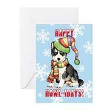 Holiday Husky Greeting Cards