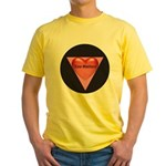 SIZE MATTERS Yellow T-Shirt