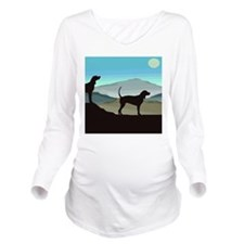 Blue Hills Coonhounds Long Sleeve Maternity T-Shir