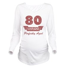 80th Birthday Vintag Long Sleeve Maternity T-Shirt