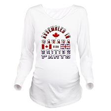 Canada British Parts Long Sleeve Maternity T-Shirt