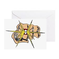 Tattoo Fist Pump with Lightening Bol Greeting Card