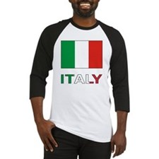 Italian Flag and Italy Baseball Jersey