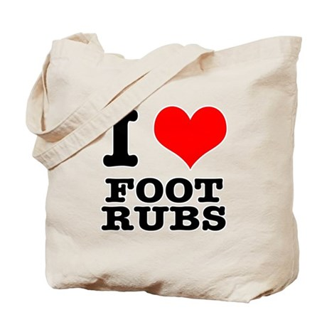 I Heart (Love) Foot Rubs Tote Bag