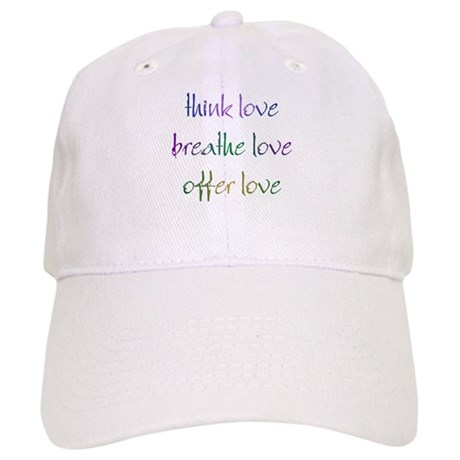 Think Love Baseball Cap