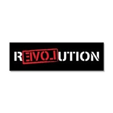 Funny Revolution Car Magnet 10 x 3