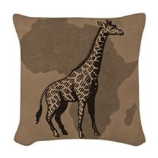 Giraffe Woven Throw Pillow