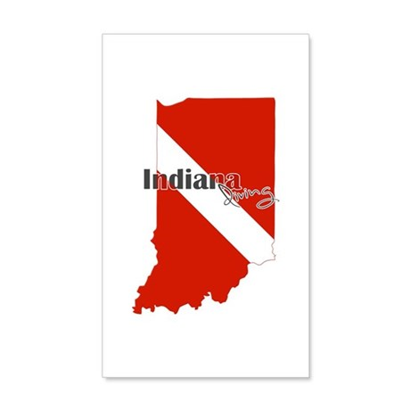 Indiana Diver 20x12 Wall Decal