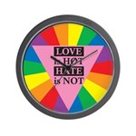 LOVE HOT HATE NOT Wall Clock