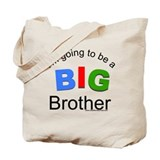 Tricolor-I'm going to be a big brother Tote Bag