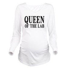 Queen of the Lab Long Sleeve Maternity T-Shirt