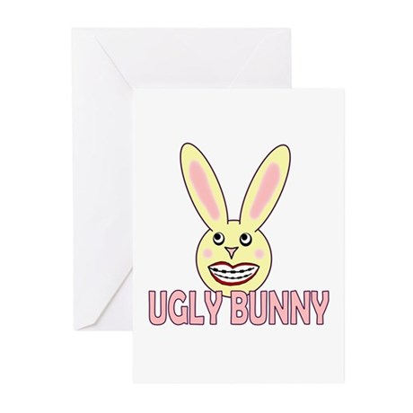 Ugly Bunny Greeting Cards (Pk of 10)