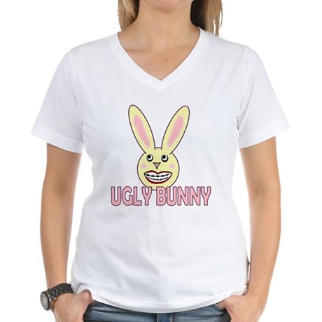 Ugly Bunny Women's V-Neck T-Shirt
