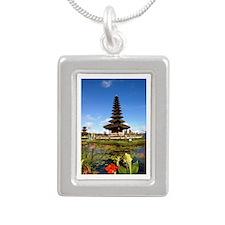 Balinese Dreams Silver Portrait Necklace