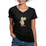 Irish Nut Women's V-Neck Dark T-Shirt