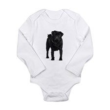Black Pug Body Suit