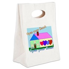 Open your Heart Canvas Lunch Tote