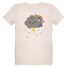 Kawaii Rainbow Behind Every Dark Cloud T-Shirt