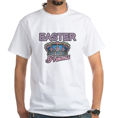Easter Princess Crown White T-Shirt