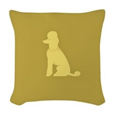 Royal Standard Poodle Seated Woven Throw Pillow