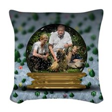 Personalizable Snowglobe Photo Frame Woven Throw P