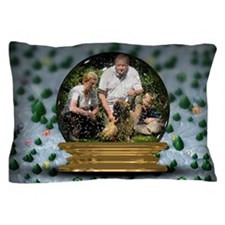 Personalizable Snowglobe Photo Frame Pillow Case