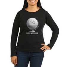 planet table tennis world globe Long Sleeve T-Shir