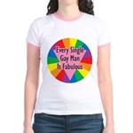 EVERY SINGLE GAY MAN FABULOUS Jr. Ringer T-Shirt