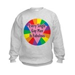 EVERY SINGLE GAY MAN FABULOUS Kids Sweatshirt