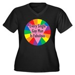 EVERY SINGLE GAY MAN FABULOUS Women's Plus Size V-