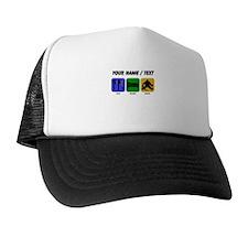 Custom Eat Sleep Save Hat