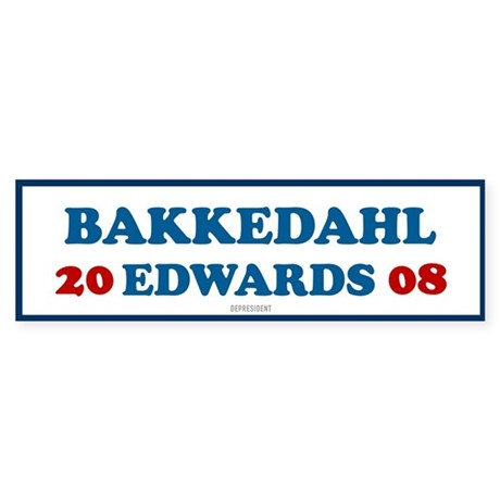 Bakkedahl Edwards 2008 Bumper Sticker