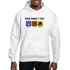 Custom Peace Love Hockey Jumper Hoody